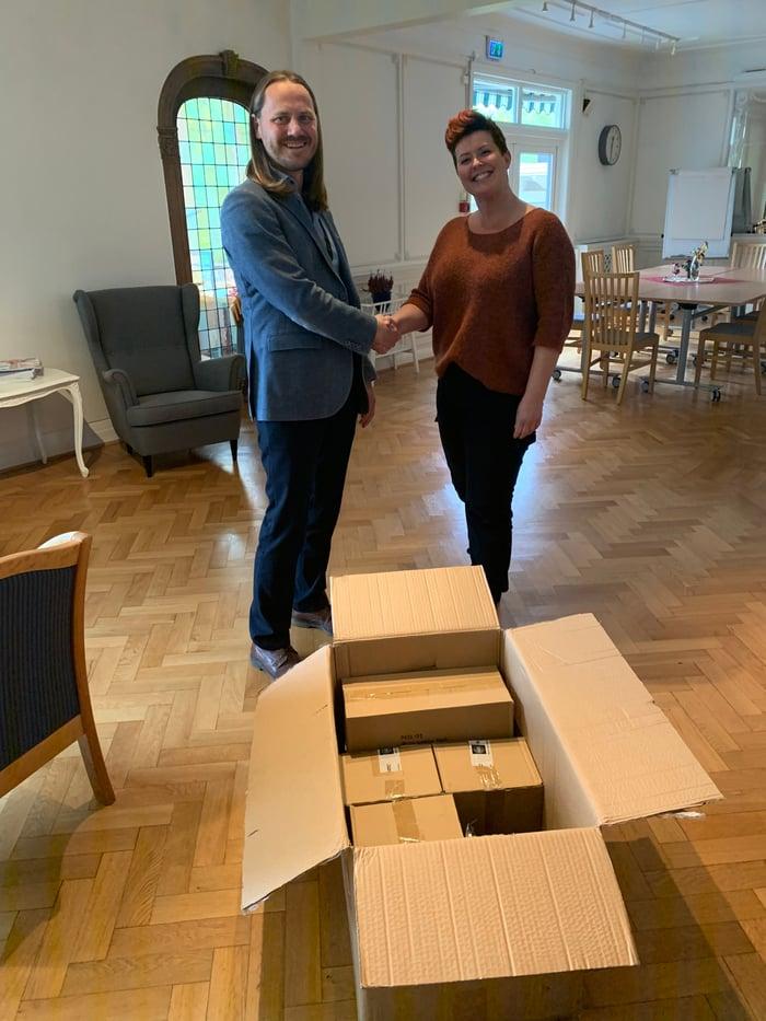 Henrik Holum og Maria Saric Nordal var begge fornøyd med resultatet