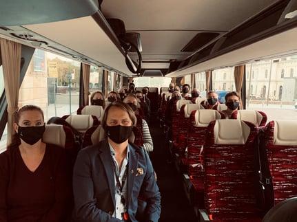 bspoke på bussen til Kragerø