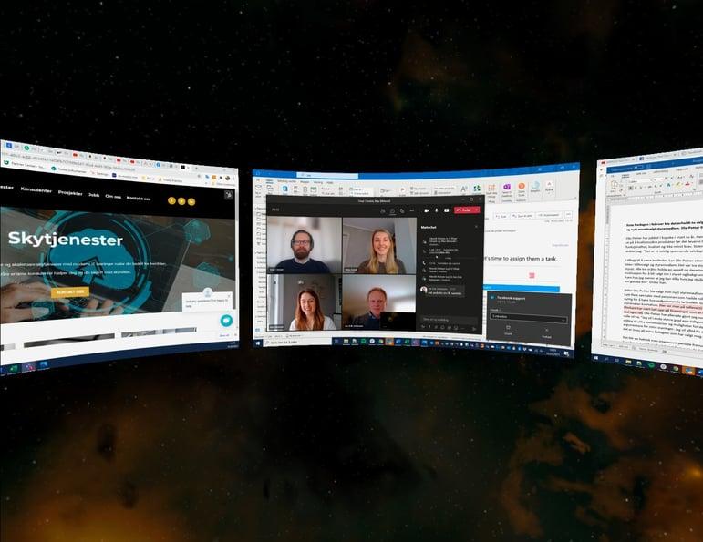 Også teamsmøter kan kjøres i VR