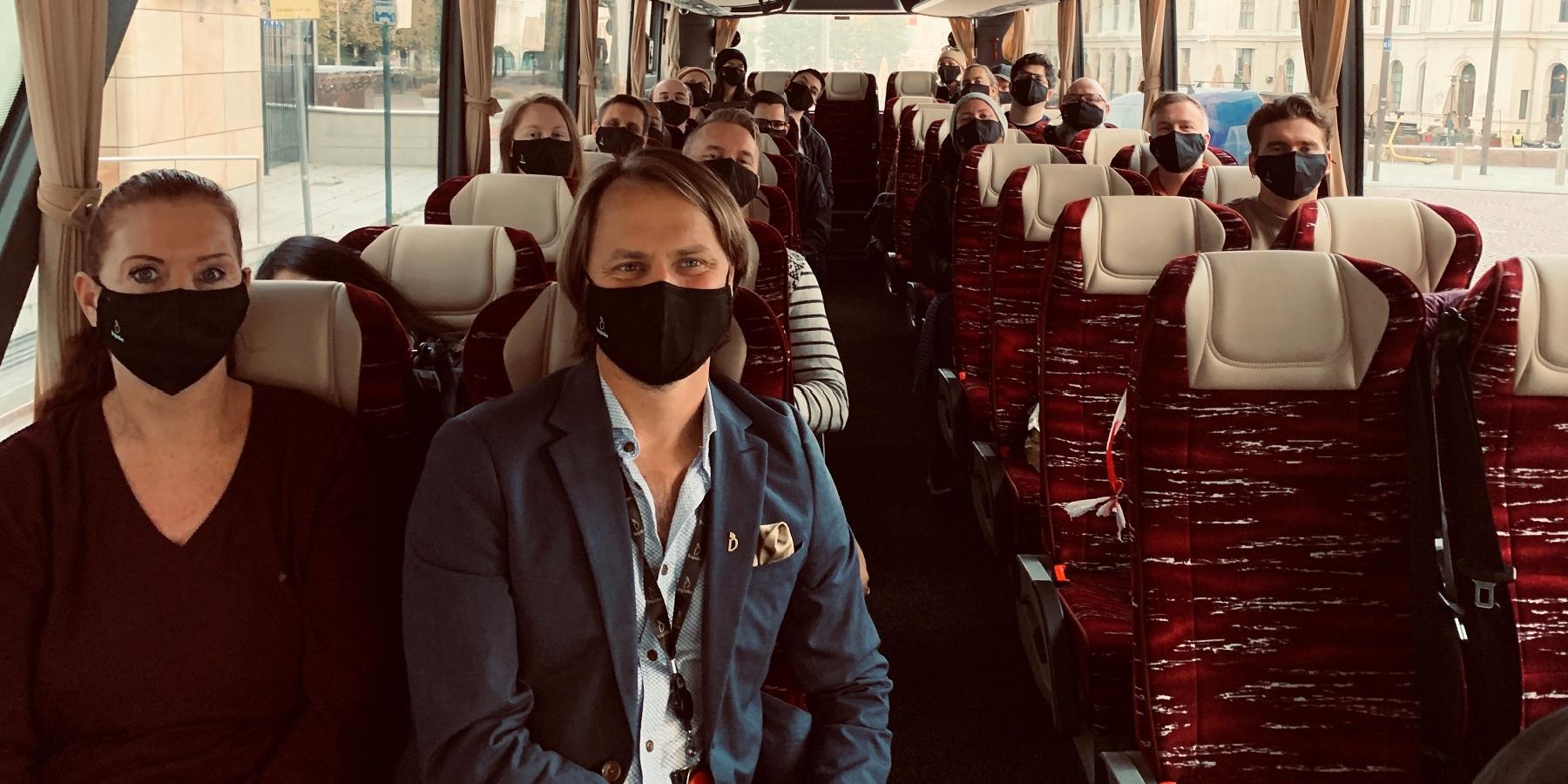 bspoke på bussen til strategisamling i Kragerø